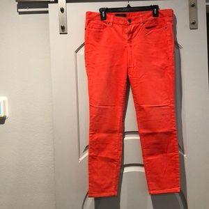 Jcrew Toothpick melon corduroy pants. NWT!